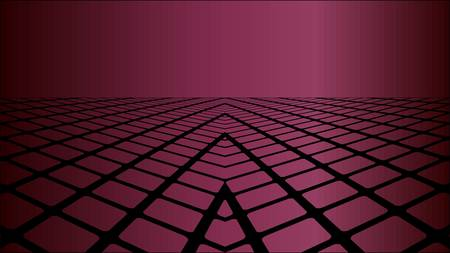 Three dimensional burgundy background - Illustration, Perspective abstract background