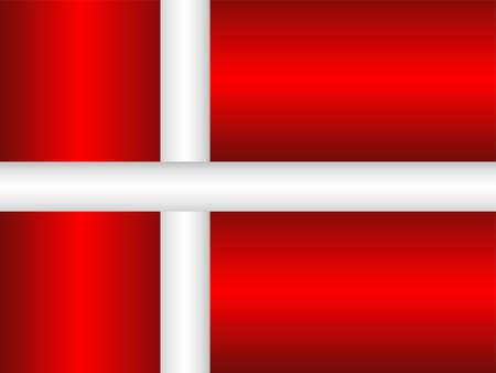 Shiny flag of the Denmark - Illustration,  Three dimensional flag of Denmark