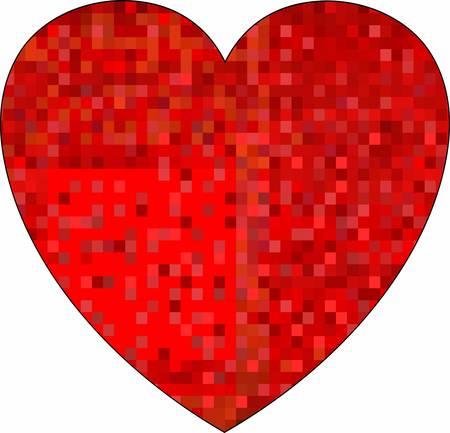 Grunge mosaic heart - illustration Illustration