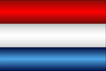Shiny flag of the Netherlands - Illustration,  Three dimensional flag of Netherlands
