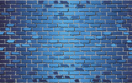 Shiny Blue Brick Wall - Illustration,  Abstract vector background