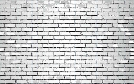 Shiny White Brick Wall - Illustration,  Abstract vector background Stock Illustratie
