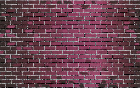Shiny Burgundy brick wall - Illustration,  Purple abstract vector illustration