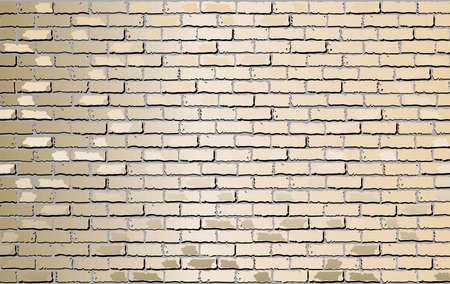 Shiny Beige brick wall - Illustration,  Beige abstract vector illustration Stock Illustratie