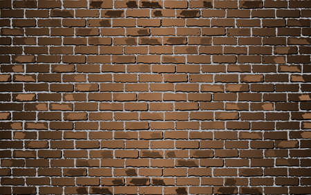 Shiny Brown brick wall - Illustration,  Brown abstract vector illustration Stock Illustratie