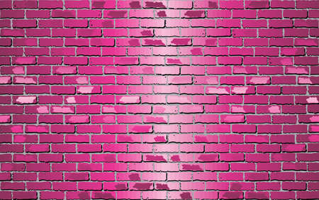Shiny Pink brick wall - Illustration,  Pink abstract vector illustration