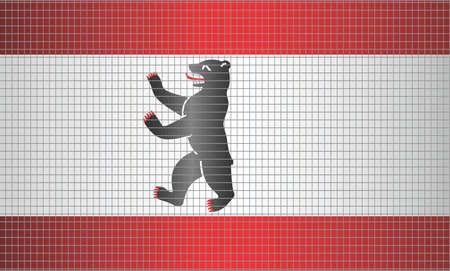 Shiny Mosaic Flag of Berlin - Illustration,  Abstract grunge mosaic vector