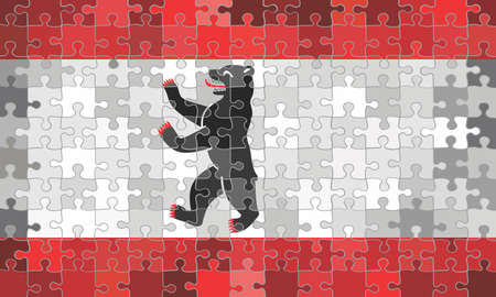 Berlin flag made of puzzle background - Illustration Stock Illustratie