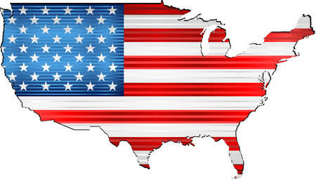 Shiny Grunge map of the USA - Illustration,  Three Dimensional Map of USA Stock Illustratie