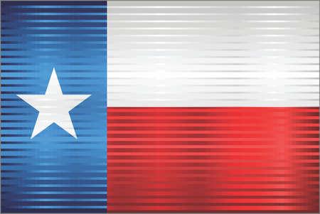 Shiny Grunge flag of the Texas - Illustration,  Three dimensional flag of Texas