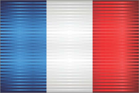 Shiny Grunge flag of the France - Illustration,  Three dimensional flag of France