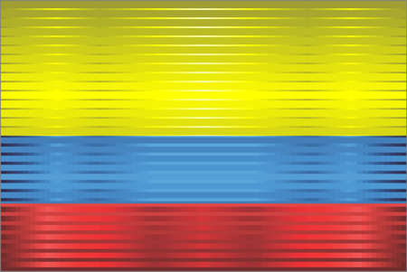 Shiny Grunge flag of the Colombia - Illustration,  Three dimensional flag of Colombia