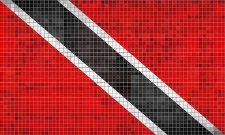 Mosaic Flag of Trinidad and Tobago - Illustration,  Abstract grunge mosaic vector