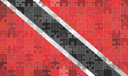 Trinidad and Tobago flag made of hearts background - Illustration Stockfoto - 128038670
