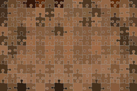 Brown grunge puzzle background - illustration Brown abstract vector
