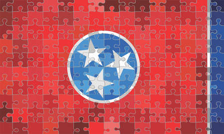 Tennessee flag made of puzzle background - Illustration Stock Illustratie