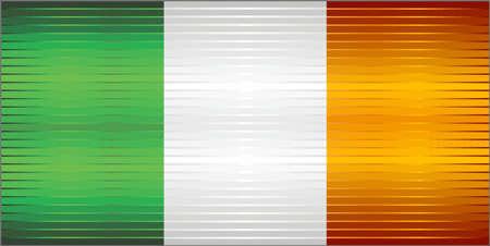 Shiny Grunge flag of the Ireland - Illustration, Three dimensional flag of Ireland