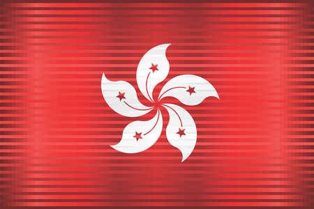 Shiny Grunge flag of the Hong Kong - Illustration, Three dimensional flag of Hong Kong