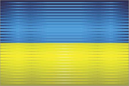 Shiny Grunge flag of the Ukraine - Illustration,  Three dimensional flag of Ukraine