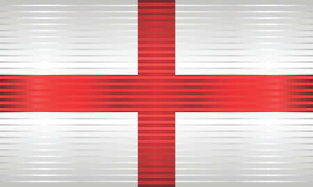 Shiny Grunge flag of the England - Illustration,  Three dimensional flag of England Çizim