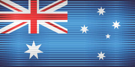 Shiny Grunge flag of the Australia - Illustration,  Three dimensional flag of Australia