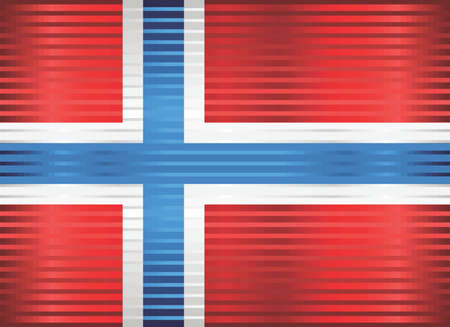 Shiny Grunge flag of the Norway - Illustration,  Three dimensional flag of Norway