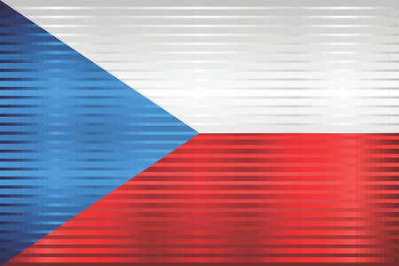 Shiny Grunge flag of the Czech Republic - Illustration,  Three dimensional flag of Czech Republic