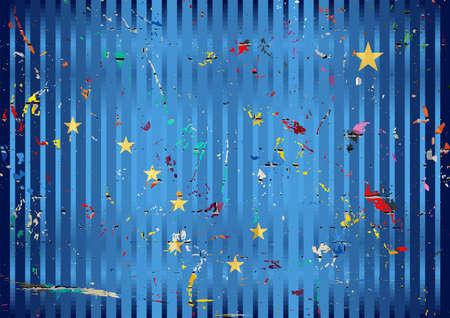 Alaska flag with color stains - Illustration,  Three dimensional flag of Alaska 向量圖像