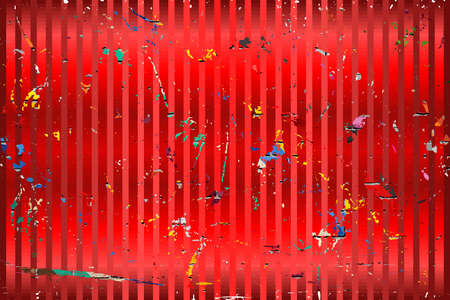 Red background with color stains - Illustration,  Three dimensional grunge background 向量圖像