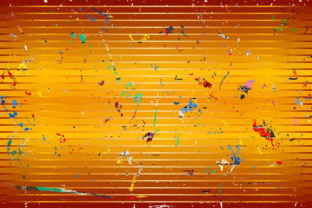 Orange background with color stains - Illustration,  Three dimensional grunge background