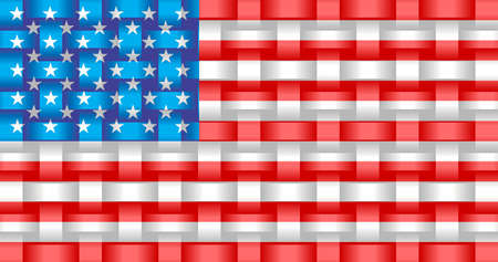 American Flag Background - Illustration,  Three dimensional flag of USA Stock Illustratie