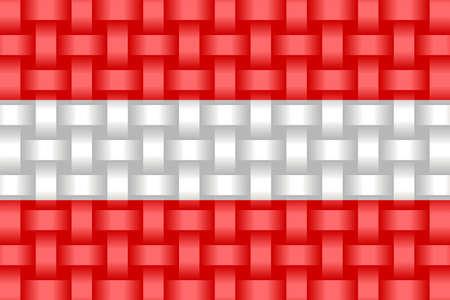 Austria Flag Background - Illustration,  Three dimensional flag of Austria Stock Illustratie