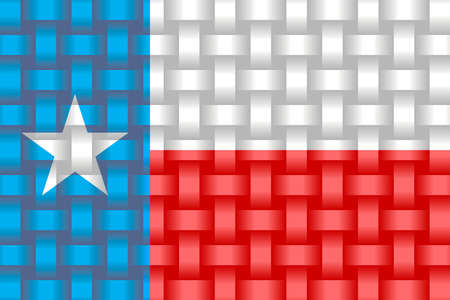 Texas Flag Background - Illustration,   Three dimensional flag of Texas