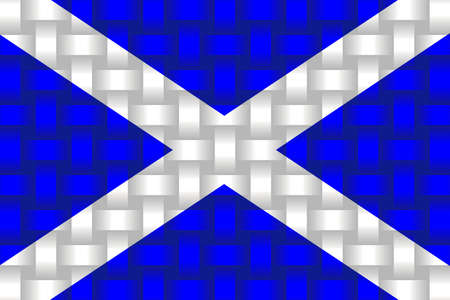 Scotland Flag Background - Illustration,  Three dimensional flag of Scotland Stock Illustratie