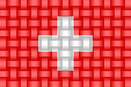 Switzerland Flag Background - Illustration,  Three dimensional flag of Switzerland