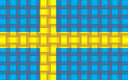 Sweden Flag Background - Illustration,  Three dimensional flag of Sweden Stock Illustratie