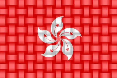 Hong Kong Flag Background - Illustration,  Three dimensional flag of Hong Kong Stock Illustratie