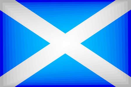 Scotland Gradient Flag - Illustration,  Three dimensional flag of Scotland Stock Illustratie