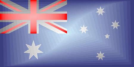 Australia Gradient Flag - Illustration,  Three dimensional flag of Australia
