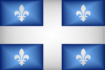 Quebec Gradient Flag - Illustration,  Three dimensional flag of Quebec Stock Illustratie