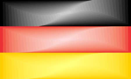 Germany Gradient Flag - Illustration,  Three dimensional flag of Germany