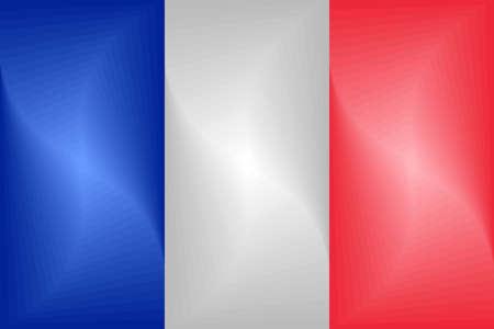 France Gradient Flag - Illustration,  Three dimensional flag of France