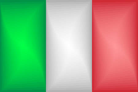 Italy Gradient Flag - Illustration,  Three dimensional flag of Italy
