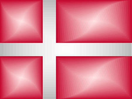 Denmark Gradient Flag - Illustration,  Three dimensional flag of Denmark