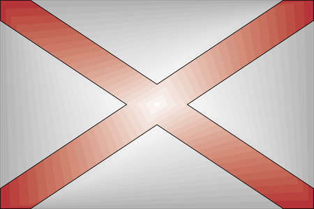 Alabama Gradient Flag - Illustration,  Three dimensional flag of Alabama Stock Illustratie