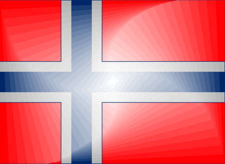 Norway Gradient Flag - Illustration,  Three dimensional flag of Norway