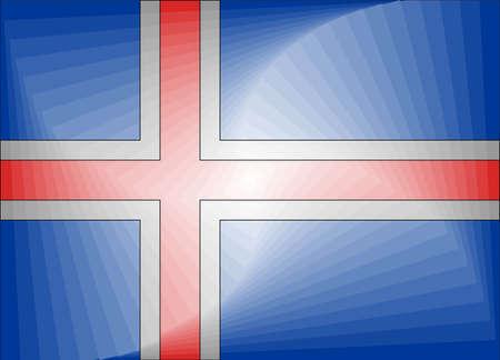 Iceland Gradient Flag - Illustration,  Three dimensional flag of Iceland Stock Illustratie