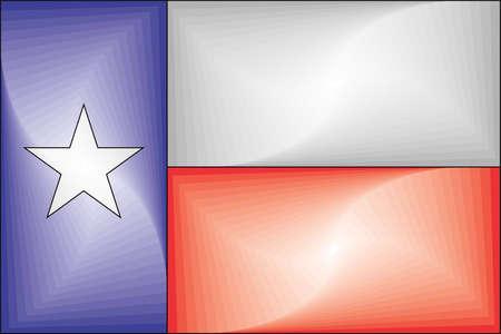 Texas Gradient Flag - Illustration,  Three dimensional flag of Texas