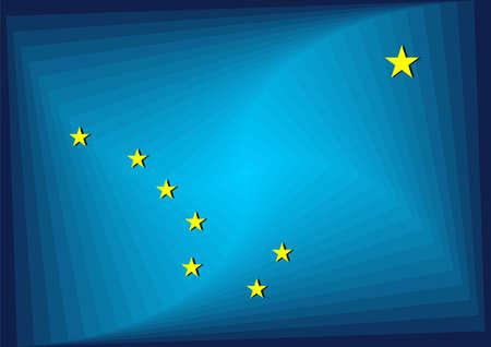 Alaska Gradient Flag - Illustration,  Three dimensional flag of Alaska Stock Illustratie