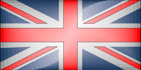 United Kingdom Gradient Flag - Illustration,  Three dimensional flag of United Kingdom 向量圖像